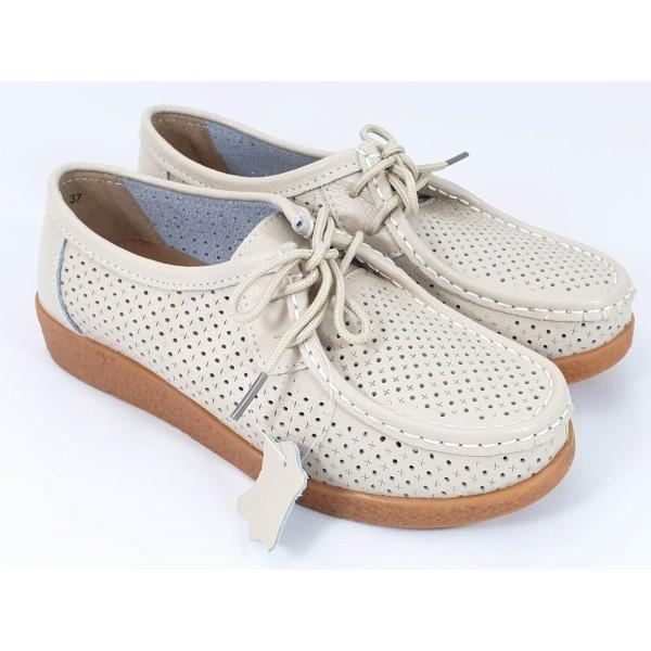 Pantofi dama piele bej Ileana