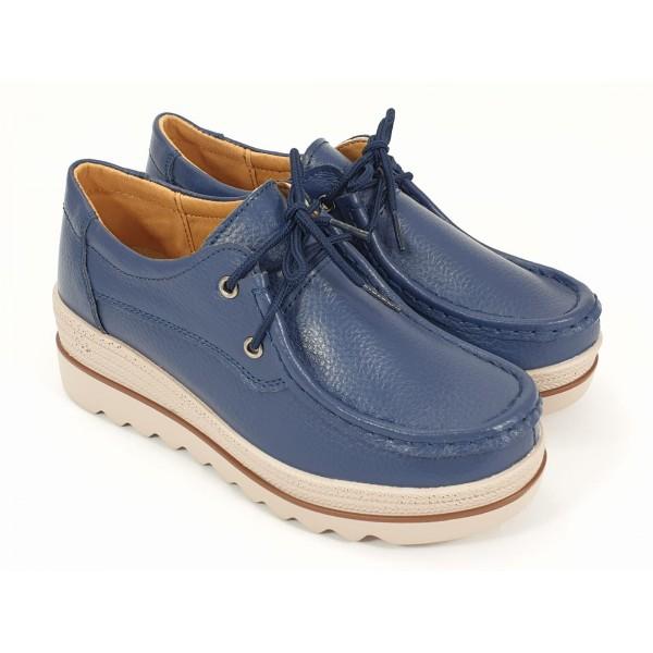 Pantofi dama piele bleumarin Flavia