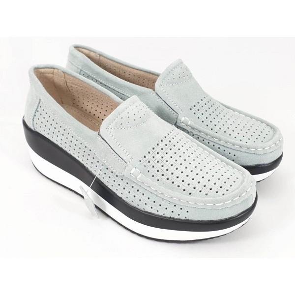 Pantofi dama piele gri Tina2