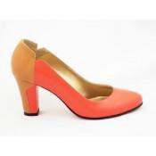 Pantofi cu toc mediu piele (35)