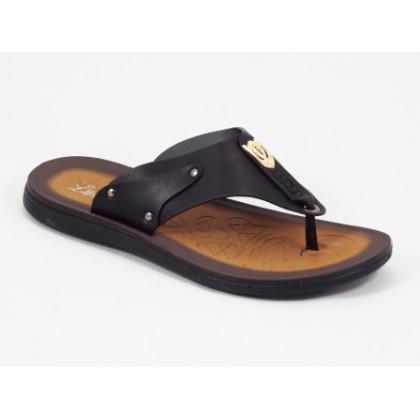 Papuci barbati negri Mansyk, (LUMANSI 30 BLACK-46)