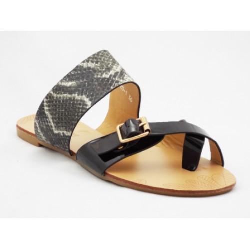 Papuci cu talpa joasa piele