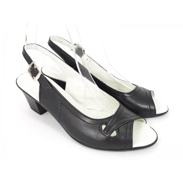 Sandale dama piele negre Alexia