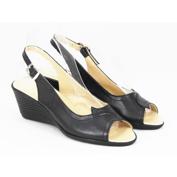 Sandale dama piele negre Cory
